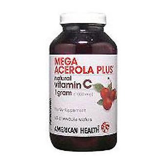 American Health Mega Acerola Chewable, 1000 MG, 60 Wafers