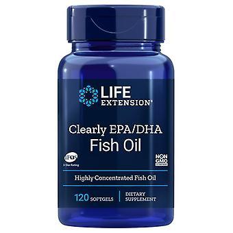 Extensão de vida Claramente EPA/DHA Óleo de Peixe, 120 Softgels