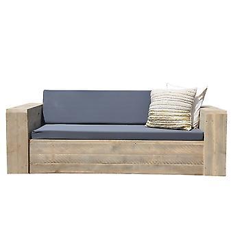 "Wood4you - Lounge Sofa Gerüst Holz ""Washington"" 200cm mit Kissen"