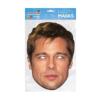 Mask-arade Brad Pitt Celebrities Party Face Mask