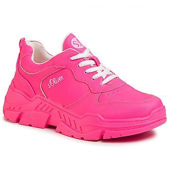 Fuxia flache Schuhe