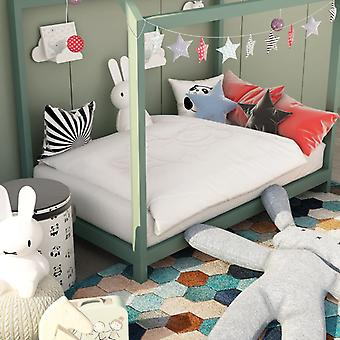 3-pc's. Kinderbedlinen set wit 100×135 / 40×60 cm
