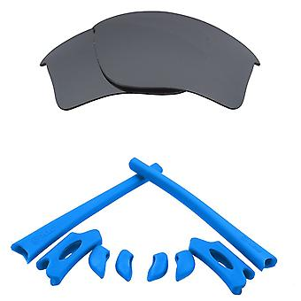 Replacement Lenses & Kit for Oakley Flak Jacket XLJ Silver Mirror & Blue Anti-Scratch Anti-Glare UV400 by SeekOptics