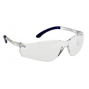 Brille mit gebogenem Objektiv
