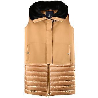 Fay Naw20413230slpc811 Women's Beige Wool Vest