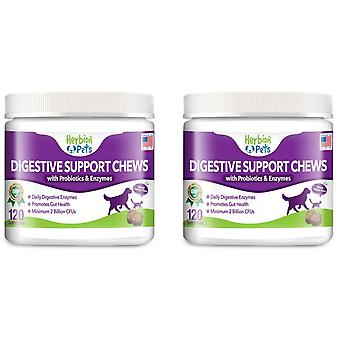 Herbion Animale de companie suport digestiv Chews, 120 Soft Chews (2 Pachete)