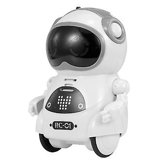 Mini Pocket Robot Walk Music Dance Toy, Voice Recognition Conversation Repeat
