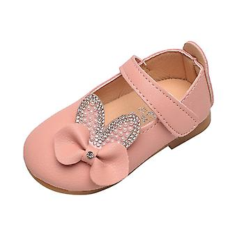 Småbarn Infant Kids Baby Sandaler, Summer Solid Crystasl Bowknot Bling Princess