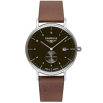 Bauhaus 2132-2 Black Dial With Date Wristwatch