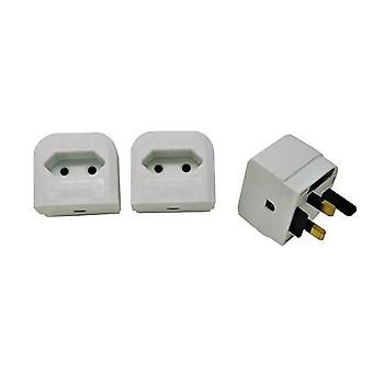 Euro Transformer to UK Converter 2 Pin European Power Supply to UK Plug - 3 Pack