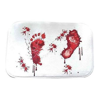 Scare Your Friends Bloody Footprint Bath Mat Non-slip Rug