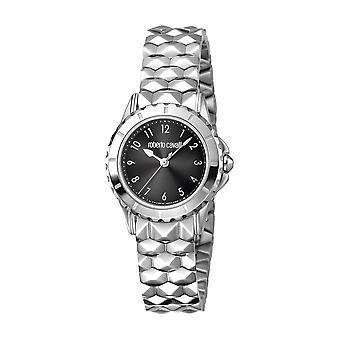 Roberto Cavalli Women's Black Dial Stainless Steel Watch