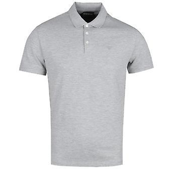 Emporio Armani Grey Marl Short Sleeve Polo Shirt