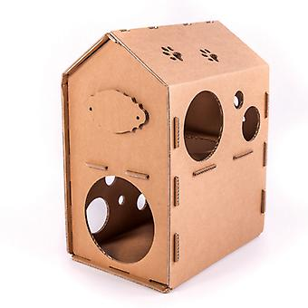 Karton Cat House, Meble Self Assembly Diy Pet Indoor
