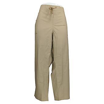 Martha Stewart Women's Petite Pants Stretch Canvas Pull-On Beige A309316
