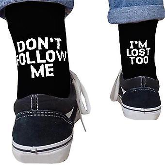 Autumn/winter Men Harajuku Humor Word Printed Creative Hip Hop Sock