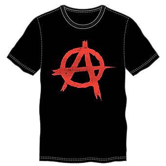 Anarchy symbol sign punk rock men's black t-shirt tee shirt