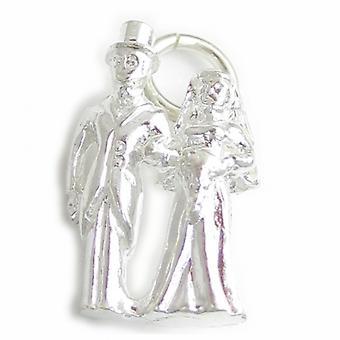 Mariés Et Mariés Sterling Silver Charme .925 X 1 Charmes de mariage - 4682