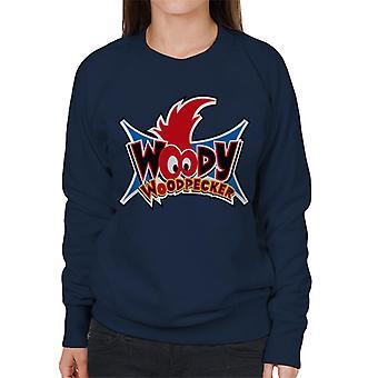 Woody Woodpecker Ojos Logo Mujeres's Sudadera