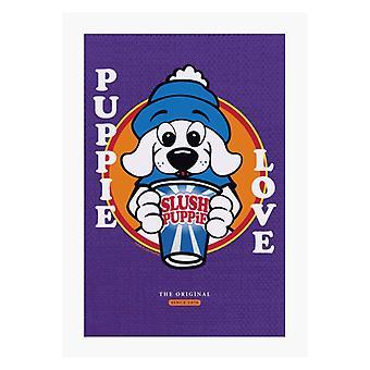 Slush Puppie Love Cartoon A4 Print