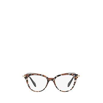 Miu Miu MU 01QV grey havana / cocoa / grey transp female eyeglasses