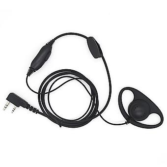D Shape Earphone for Kenwood Soft Rubber Earpiece Headset for Motorola Radio With One Pin & 3.5mm Mo