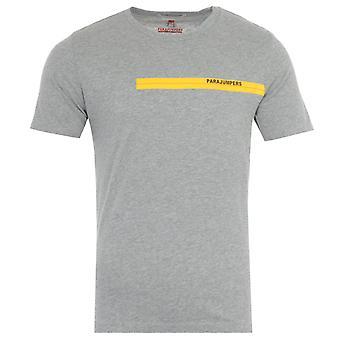 Parajumpers Tape Print T-Shirt - Light Grey