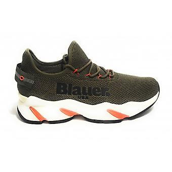 Shoes Blauer Sneaker Running Mod. Maui Fabric Knitted Green Military Green Man Us19bu04