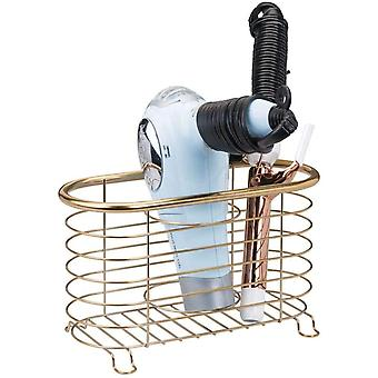 mDesign Bathroom Countertop Storage Organizer Basket for Hair Dryer, Flat Irons, Curling Wands