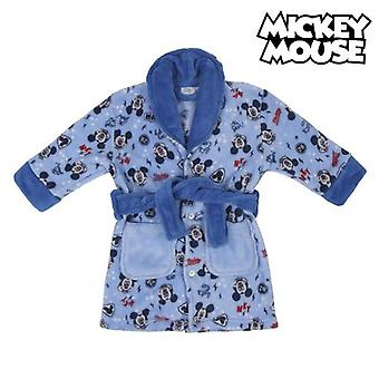 Children's dressing gown mickey mouse blue belt