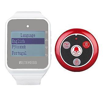 Retekess Restaurant Pager Hookah Wireless Waiter Calling System Watch Récepteur