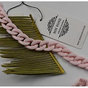 Mask Resin Women Bag Strap Or Neck Chain Pink Belt