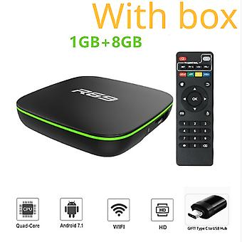 R69 smart for android 7.1 tv box 1gb 8gb allwinner h3 quad-core 2.4g wifi set top box 1080p hd support 3d movie media player