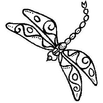 Timbro montato in legno di libellula