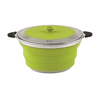 Outwell Lime Green Collaps 4.5L Cooking Pot with Lid