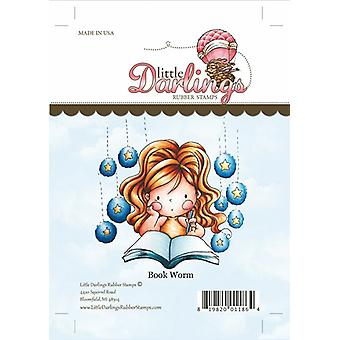 Little Darlings Stamp - Book Worm