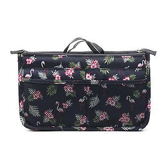 Kosmetiikka, meikki, matkajärjestäjä kannettava kauneuspussi toiminnallinen laukku