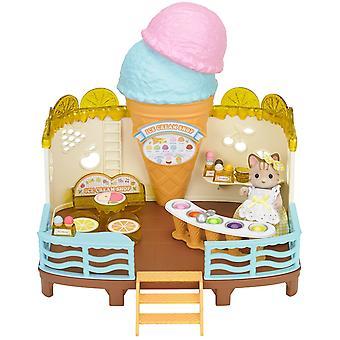 Sylvanian Familie am Meer Eis Shop Set