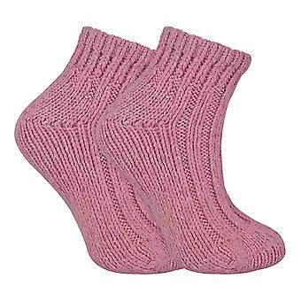 Ladies Chunky Wool Blend Ankle Socks