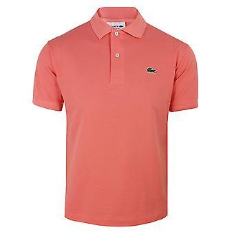 Lacoste mænds lyserøde polo shirt