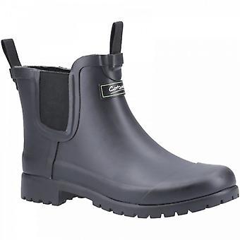 Cotswold Blenheim Ladies Gummi Ankel Wellington Boots Sort