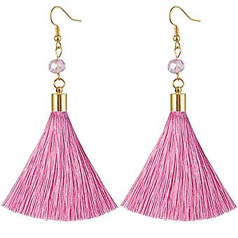 KYEYGWO - Women's nappa earrings, handmade in gold and stone plated crystal with fishing hook for Ref girls. 0635946999349