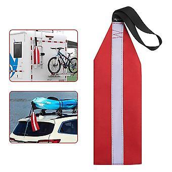 Bandera de seguridad de kayak Bandera de remolque banderas de seguridad duraderas altamente visibles con canoa de cordón Kayak equipo de seguridad en el agua