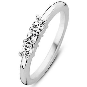 Ring Ti Sento 12135ZI - Ring Steel Sølv e Kvinde