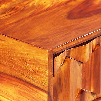 vidaXL pöytä massiivipuu 118 x 50 x 76 cm