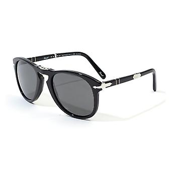 Persol Steve McQueen Foldable Grey Polar Lens Sunglasses - Black