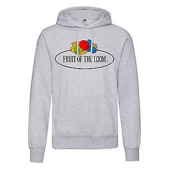 Fruit of the Loom Mens Vintage Big Logo Heather Hoodie
