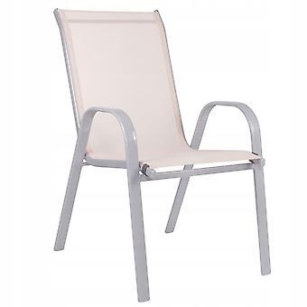 Sedia da giardino in metallo 90 x 55 x 62 cm – Beige