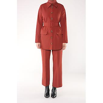 Self Belted Blazer And Pants Set