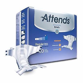 Osallistuu Unisex aikuisten inkontinenssi lyhyt osallistuu Advanced Tab Closure säännöllinen kertakäyttöinen raskas imukyky, 20 pussia